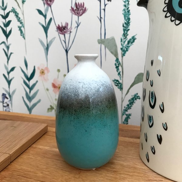 Sass & Belle Dip Glazed Ombre Vase In Turquoise