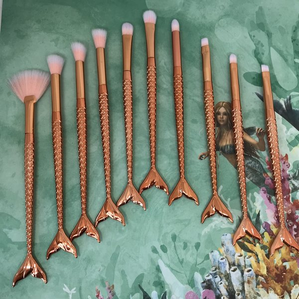 Mer-Mazing Make Up Brushes - Rose Gold