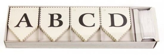 Alphabet Bunting DIY Pack - 75 Letters