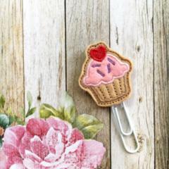 Felt Cupcake Paper Clip