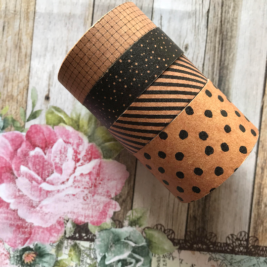 Craft Set Of 4 Washi Tapes