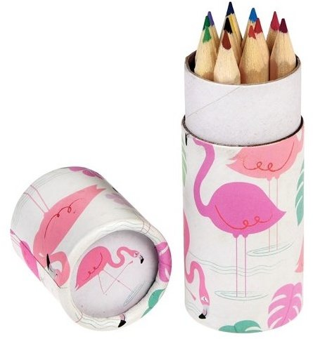 Flamingo Colouring Pencils - Set of 12