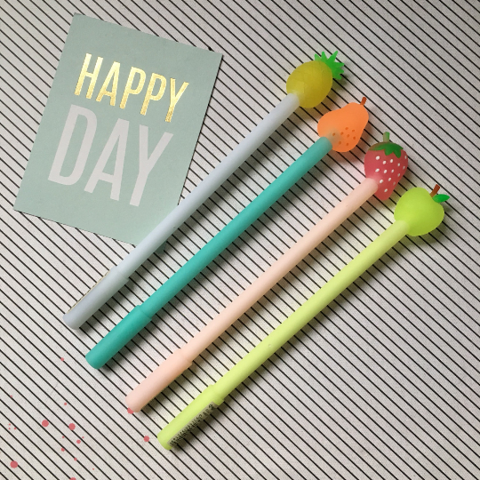 Fruit Topped Gel Pen