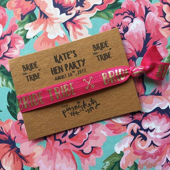 Hen Party Wristband - Bride Tribe / Team Bride