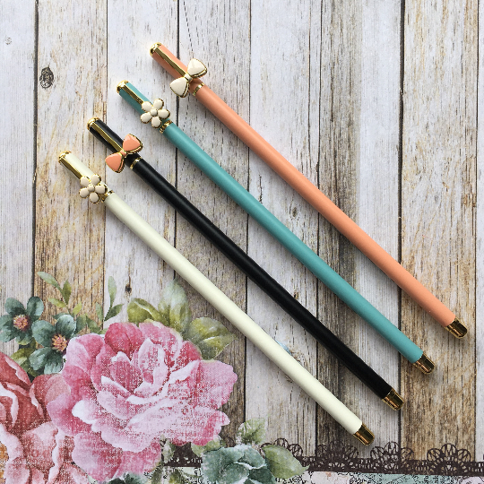 Gorgeous Luxury Flower / Bow Metal Gel Pen