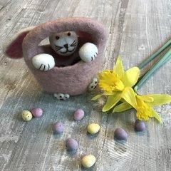 Felt Easter Bunny Basket