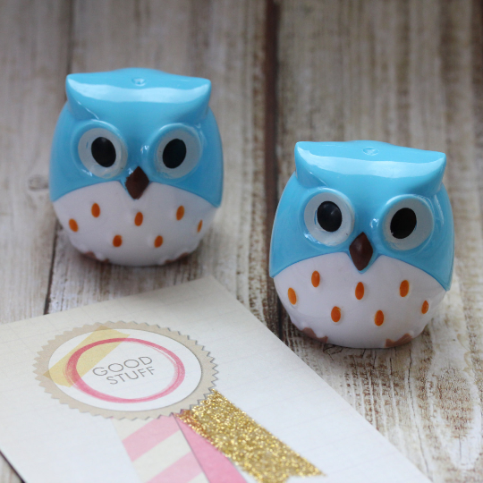 Owl Pencil Sharpener - Blue