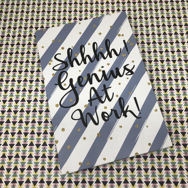 Shhhh! Genius At Work Memo Book & Pen