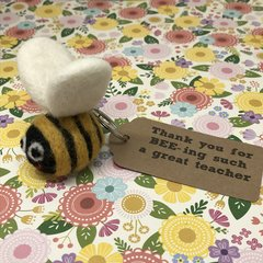 Felt Bee Keyring - Thank You For BEE-ing Such A Great Teacher