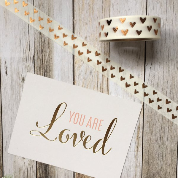 Heart Washi Tape with Foil Detailing