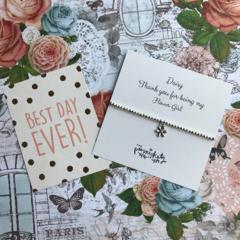 Beaded Charm Bracelet - Thank You For Being My Flower Girl