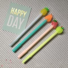 Fruit Topped Gel Pen