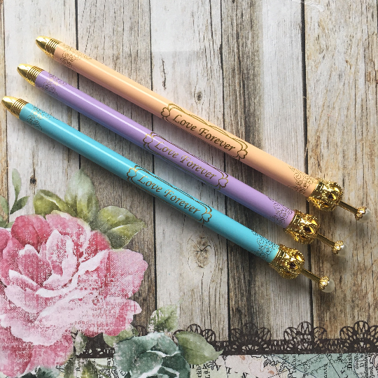 Pastel Love Forever Crown Ballpoint Pen