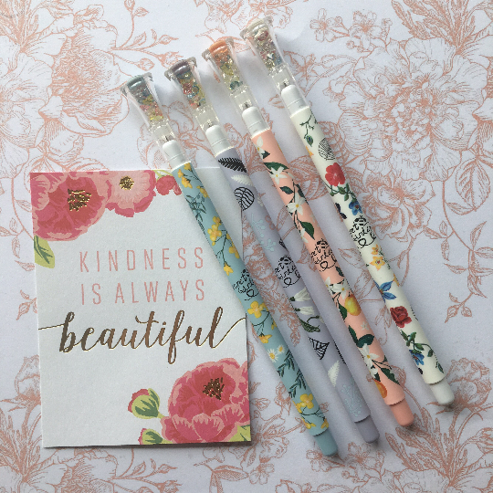 Secret Garden Gel Pens with 'Gem' Topper
