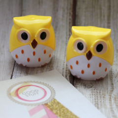 Owl Pencil Sharpener - Yellow