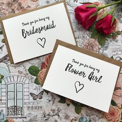 Wedding Card, Thank You For Being My Bridesmaid
