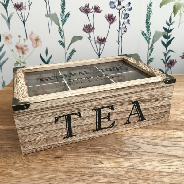 Vintage Wooden Tea Box