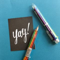 Multi Colour Retro Ballpoint Pen