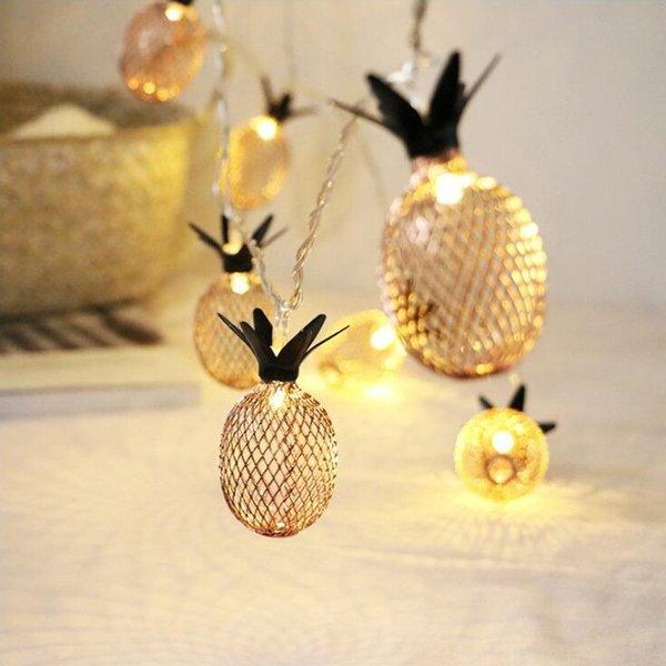 Retro Pineapple Light Garland