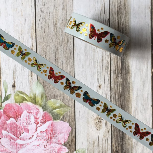 Butterfly Washi Tape with Foil Detailing