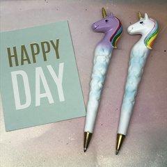 Unicorn Pen with Rainbow Hair