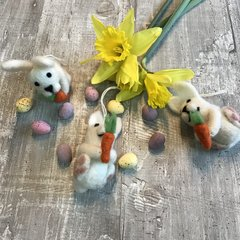 Easter Bunny With Carrot Hanging Decoration