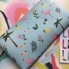 Retro Flamingo PU Pencil Case