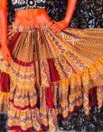 ATS®HAND Dyed PatchWork Tribal Bellydance Gypsy Skirt
