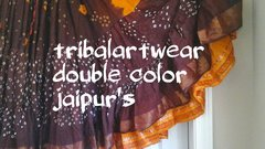 JAIPUR ATS®Tribal Bellydance ATS® Gypsy 25yard Double Color JAIPUR Skirt