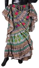 NEW!!ATS GREEN Durga Tribal Bellydance Tribal ATS Gypsy Skirts