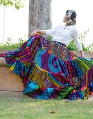 Tribal Bellydance ATS®Tribal Gypsy Rainbow Skirt