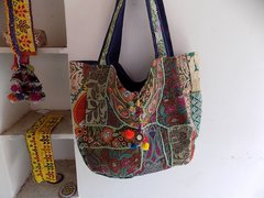 BAG EACH UNIQUE ONE OF A KIND!!Tribal Gypsy Vintage Textile Kuchi Bag XL