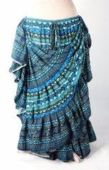 BEAUTIFUL BLUES DURGA Tribal Bellydance Kuchi Gypsy ATS® Skirt
