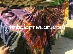 #1 ATS® CUSTOM TYEDYED GYPSY TRIPLE DIP-DYED ATS TRIBAL SKIRT