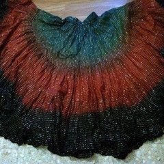 LUREX GYPSY TRIPLE DIP-DYED ATS TRIBAL SKIRT