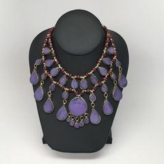 KUCHI Vintage Tribal BellyDance Violet Choker Necklace