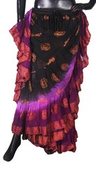 NEW!!ATS PURPLE Paisley BP Tribal Bellydance Tribal ATS Gypsy Skirts