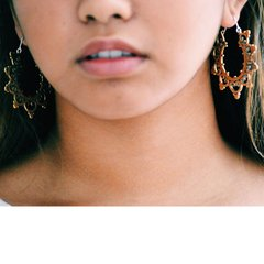 TRIBAL FUSION Vintage Tribal BellyDance Hoop GITA Earrings