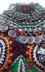 KUCHI RARE Vintage Tribal BellyDance Choker COLORFUL Necklace