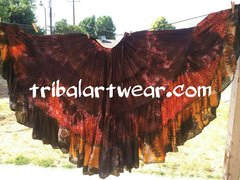 DIP DYED #1 ATS® CUSTOM TYEDYED GYPSY TRIPLE DIP-DYED ATS TRIBAL SKIRT