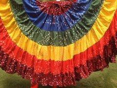 ATS®Tribal Bellydance ATS® Gypsy 25yard Double Color JAIPUR Skirt