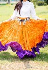 Tribal Bellydance ATS® Gypsy 25yard Double Color JAIPUR Skirt