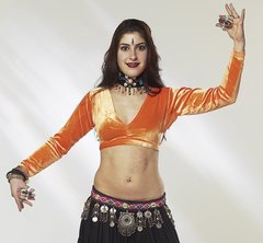 TRIBAL CHOLI BELLYDANCE GYPSY VELVET CHOLI LONG SLEEVE