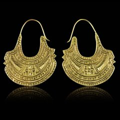 TRIBAL FUSION Vintage Tribal BOMBAY BellyDance Hoop Earrings