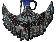 BLOCK PRINT Tribal Bellydance Tribal ATS Gypsy Skirts