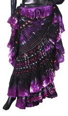 NEW!!DEEP PURPLES ATS BW Sparkley Tribal Bellydance Tribal ATS Gypsy Skirts