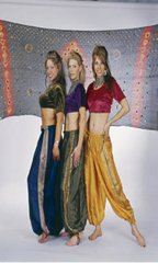 PANTALOONS TRIBAL BELLYDANCE SILK SARI BROCADED GYPSY TRIBAL PANTALOONS