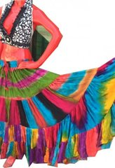 Tribal Bellydance ATS®Tribal Gypsy Multi Rainbow Skirt