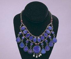 KUCHI Vintage Tribal BellyDance LAPIS Choker Necklace