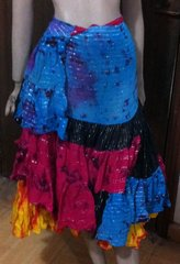 ATS®TRIBAL BELLYDANCE LUREX JAIPUR GYPSY TRIBAL WRAP SKIRT